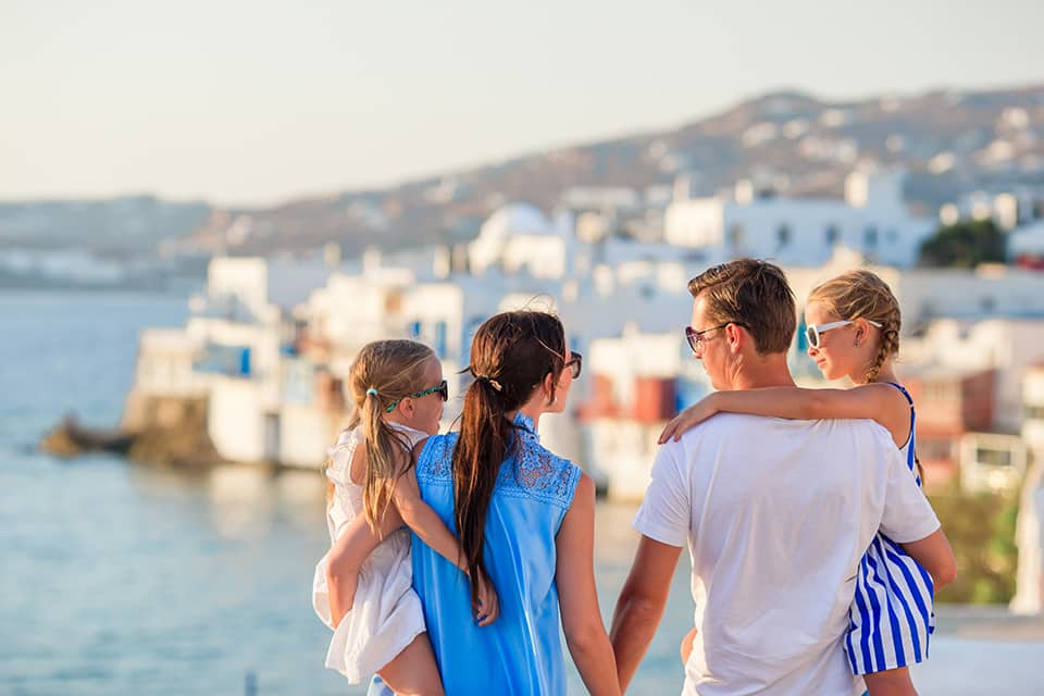 Family vacation in Mykonos