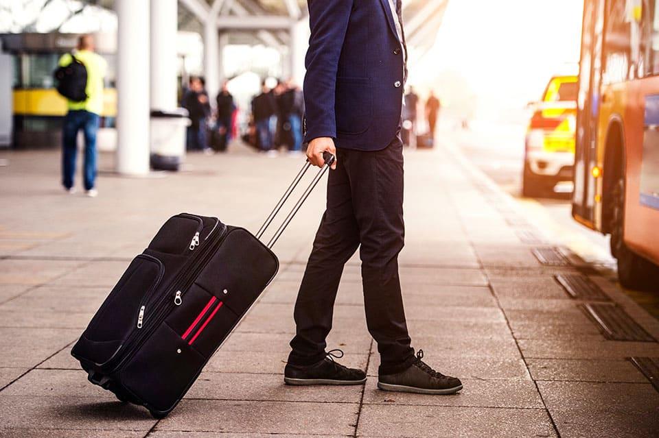 businessman at airport