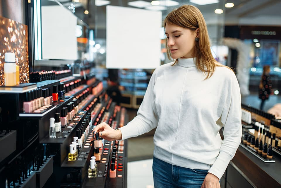 woman with perfumes